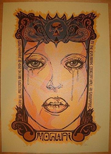2009 Mogwai Glow Edition Silkscreen Concert Poster by Malleus