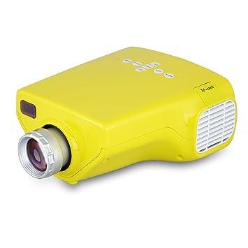 Excelvan E03 - Mini Proyector Portátil 50 Lumenes (16W, Pantalla Led Lcd, Vga Hdmi Usb Atv, TF Tarjeta 320 x 240, 1080P, Enfoque Manual,para Casa Cine ...