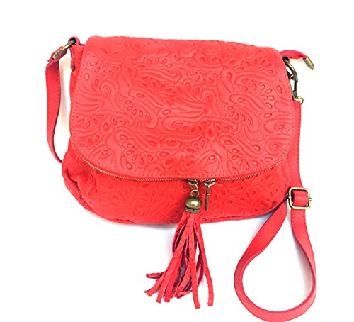 Superflybags Donna M Attraversata Sacchetto Rosso rraABgRqw