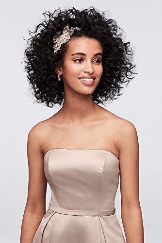 41565a50bf5 David s Bridal High-Low Satin Bridesmaid Dress With Pockets Style ...