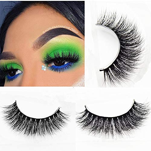 Miss Kiss Brand Thick 3D Mink lashes Hand-made False Lashes Stirp Reusable 100% Siberian Fur Fake Eyelash For Makeup 1 Pair -