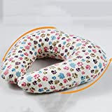 U-Pillow-Student Lunch Break U-Pillow-Breathable Plaid Pillow-Aircraft Travel Neck and Neck U-Shaped Cervical Pillow-Summer