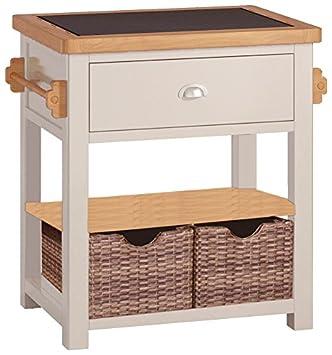 Prime Portland Painted Oak Small Kitchen Island Amazon Co Uk Dailytribune Chair Design For Home Dailytribuneorg