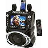 """Karaoke USA GF830 Karaoke System with 7"""" TFT Color Screen, Record Function & Bluetooth(r)"""