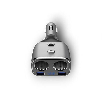 Adaptador de mechero de coche 12 V/24 V con doble puerto USB ...
