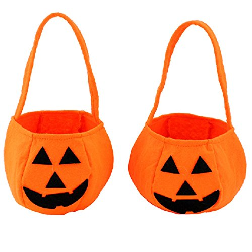 Halloween Pumpkin Bag,Halloween Trick or Treat Pumpkin Candy Tote Bag for Halloween Party Costumes ,YRH Gift Sacks Pumpkin Bags for Kids Presents (2 (Article About Halloween Costumes)