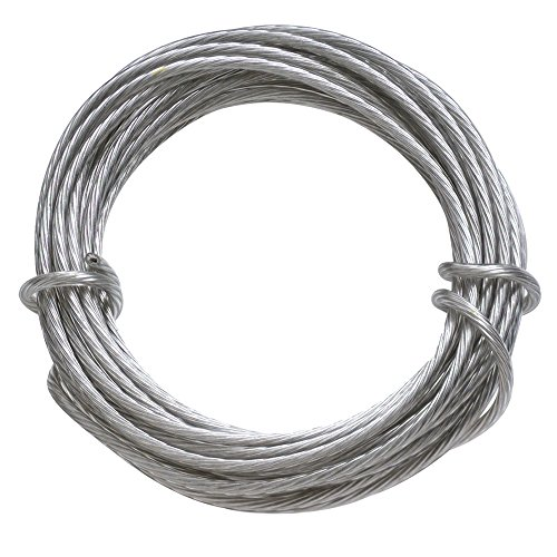 HangZ 80050 Coated Stainless Steel Gallery Wire for Hanging Pictures, 50lb, - Picture Hanging Wire