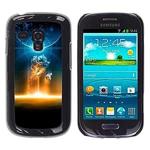 Volcánicas celestiales Batallas - Metal de aluminio y de plástico duro Caja del teléfono - Negro - Samsung Galaxy S3 MINI i8190 (NOT S3)