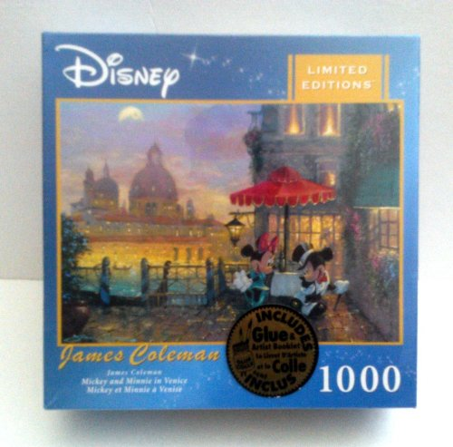 Limited Edition Jigsaw - Mickey and Minnie in Venice, Limited Edition, 1000 piece puzzle.