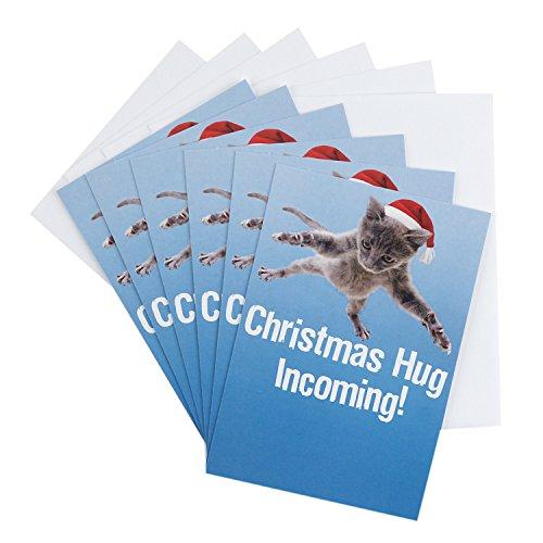 Hallmark Shoebox Funny Christmas Greeting Cards Assortment (6 Christmas Cards & 6 Envelopes) (Cartoon Christmas Ideas Card)