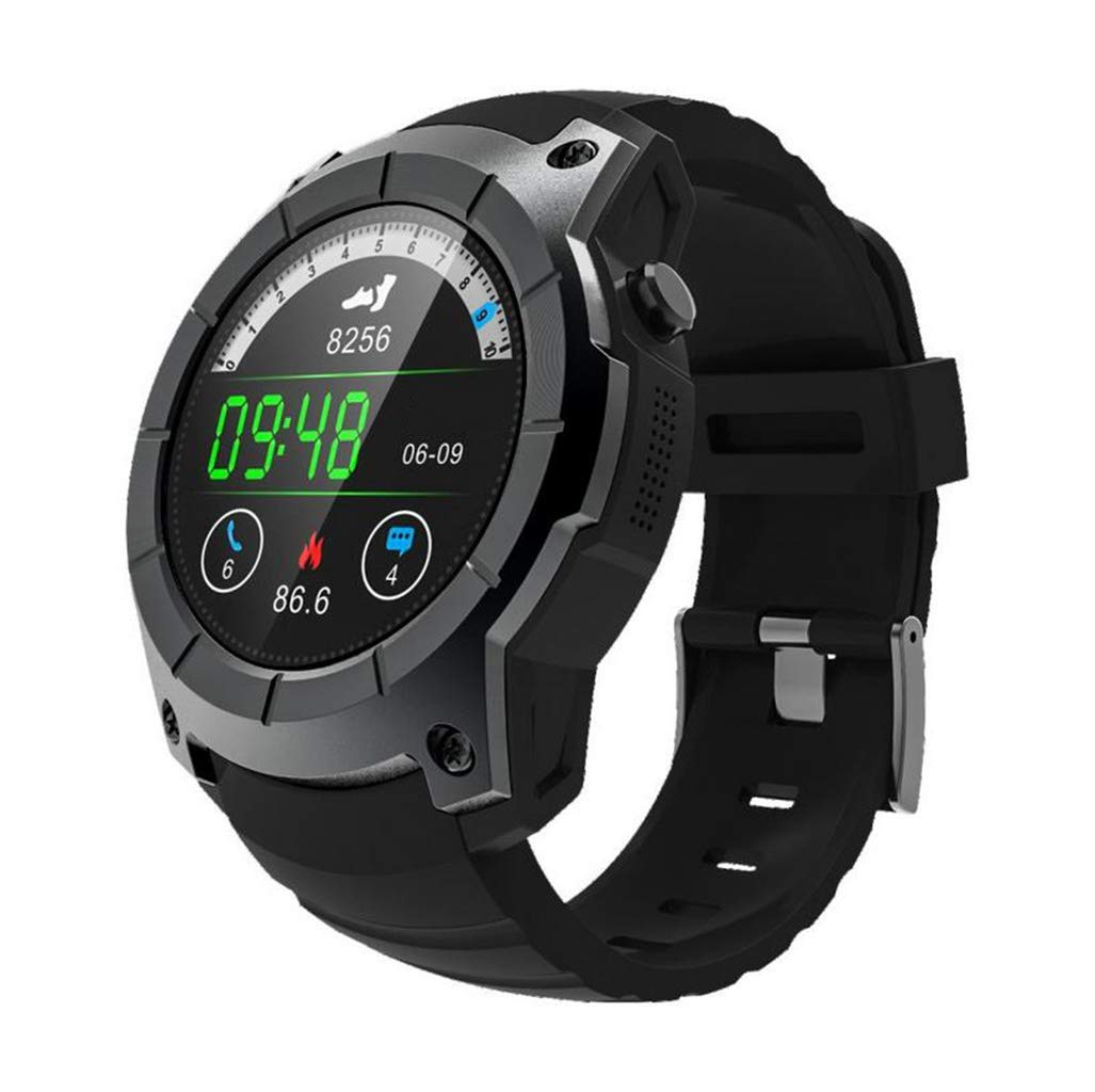 Multifuction Smart Bluetooth Digital Outdoor Electronic Sport Watch Step Counter Pedometer Calories with Heart Rate Sleep Monitor Barometer for Boys Teenagers Junior Men Women Black Red