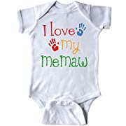 inktastic - I Love My MeMaw Infant Creeper 6 Months White