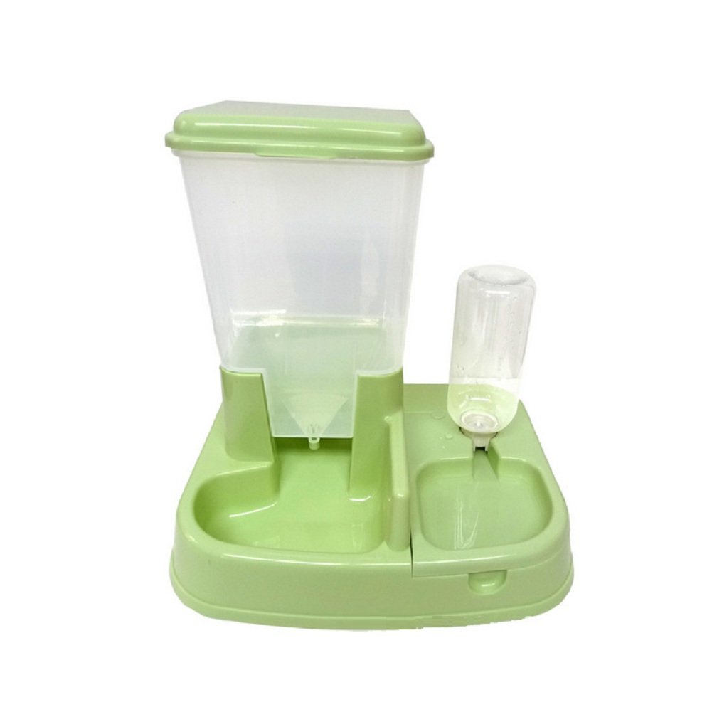 WE&ZHE Pet Feeder, Automatic Pet Feeder For Cats And Dogs,Auto Pet Feeder Food Dispenser,Green