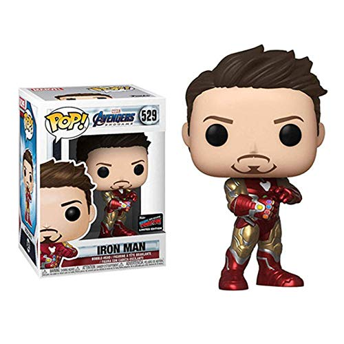 WENJZJ Pop Avengers 4 Tony Stark Infinite Gloves Figura Juguetes
