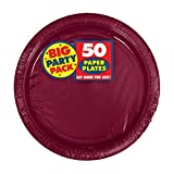 Amscan Big Party Pack 50 Count Paper Dessert Plates, 7-Inch, Berry for $7.28.