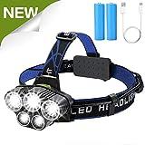 Headlamp Flashlight,Led Headlamps usb Head lamp head light brightest Rechargeable Headlight 10000 lumen
