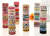 Freedi Masking Decorative Tape Set Colorful Cartoon Pattern for Scrapbooking DIY Crafts Set of 20