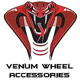 Venum wheel accessories 24pc Chevy Silverado Black OEM Factory Style Black Lug Nuts M14x1.5 W/ 22MM Hex Close End 1.5'' Tall 6x5.5 Chevy Stock Lugs Made in USA
