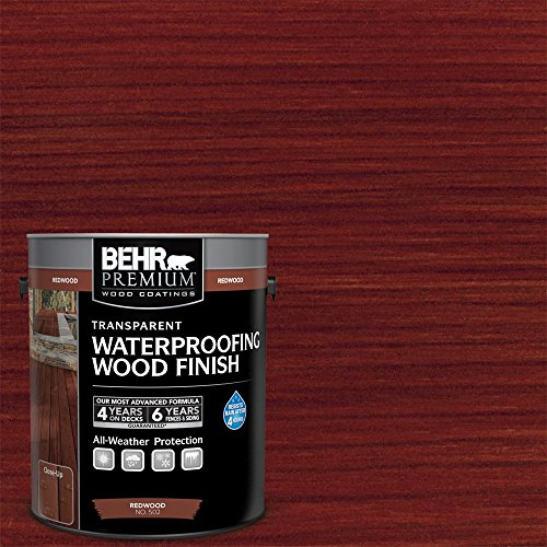 BEHR 1 Gal. Redwood Premium Transparent Deck, Fence & Siding Weatherproofing Wood Finish ()