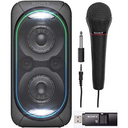 Sony GTKXB60/B High Power Portable Bluetooth Speaker FV100 Mic & Sony 16GB Micro Vault USM-X USB Drive