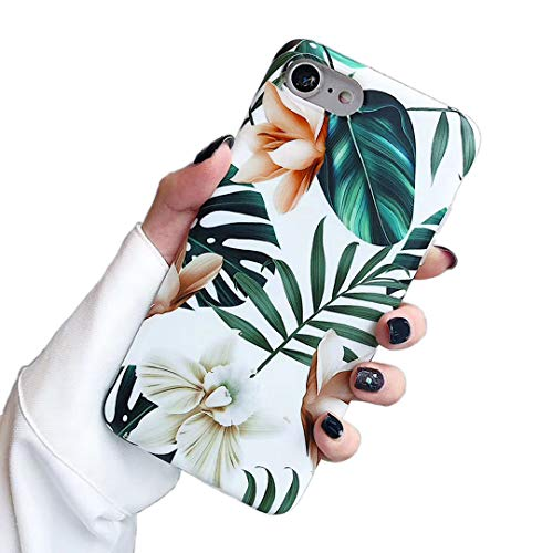 - iPhone 7 Case iPhone 8 Case,Yoopake Apple iPhone 8 Case for Girls Women Protective Thin Slim Fit TPU Soft Case with Green Leaves Floral Unique Art Pattern Design Cover Phone Case for iPhone 7 8 4.7