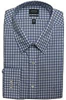 Arrow Men's Classic-Fit Checked No-Iron Point-Collar Dress Shirt, 17.5 32/33
