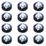 LumaBase 68012 12 Count Submersible LED Lights, White