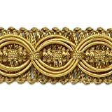 Expo International IR4437GL-20 20 yd of Collette Woven Braid Circle Trim, Gold