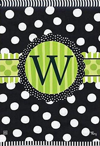 BreezeArt Letter W Monogram Garden Flag
