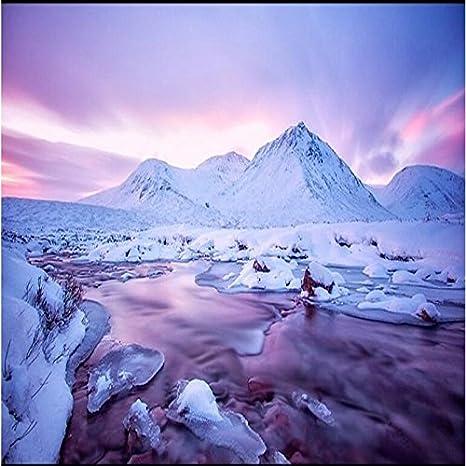 250cmx175cm Sfondo Personalizzato Neve Montagna Altopiano 3d Murali