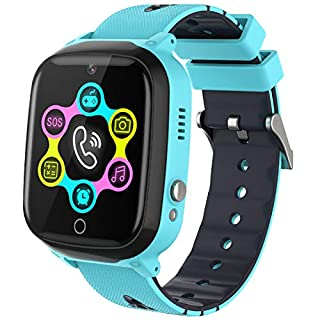 Smart Watch for Kids - Kids Smartwatch Boys Girls with Two Way Calls,SOS,7 Games,Camera,Alarm Clock,Music Player,Calculator,HD Touchscreen Kids Watches for Boys Girls Children 4-12 (Blue)