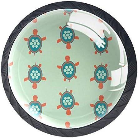 カラフル サボテン MYSTAGE 取っ手 つまみ 4個セット ガラス 引き出し取っ手 家具 ハンドル タンス キャビネット キッチンキャビネット