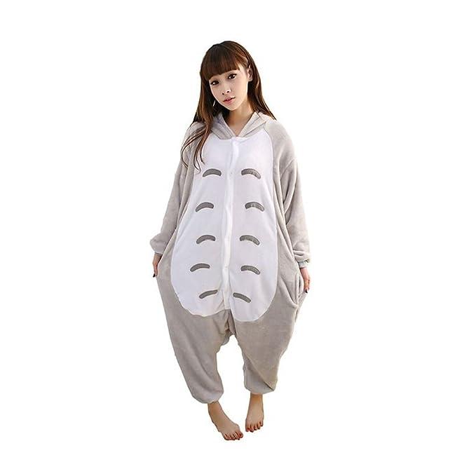 Pijama de invierno unisex tipo mono para adultos, pieza única de cá