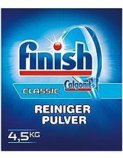 Finish Classic Cleaner-poeder, fosfaatvrij, vaatwasmiddelpoeder voor een glanzend spoelresultaat, grote verpakking met 4,5 kg afwasmiddel
