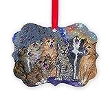 CafePress - Meowy Christmas - Christmas Ornament, Decorative Tree Ornament