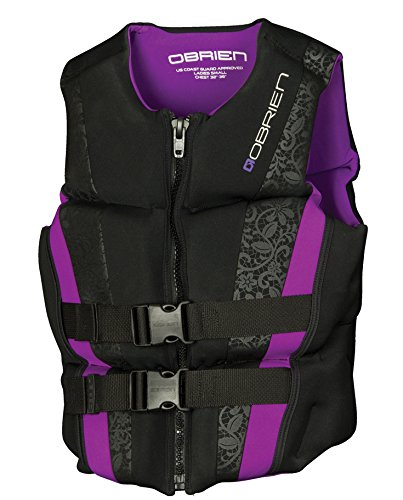 O'Brien Women's Flex V-Back Neo Life Vest, X-Large, Purple