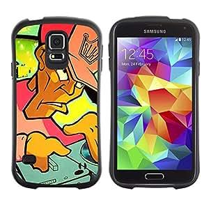 Be-Star Impreso Colorido Diseño Antichoque Caso Del iFace Primera Clase Tpu Carcasa Funda Case Cubierta Par Samsung Galaxy S5 SM-G900 ( DJ Graffiti )