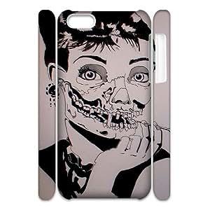 Iphone 5C 3D Customized Phone Back Case with Zombie Audrey Hepburn Image