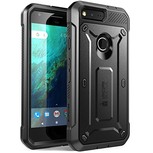 Price comparison product image Google Pixel Case,  SUPCASE Full-body Rugged Holster Case with Built-in Screen Protector for Google Pixel 5.0 Inch (2016 Release),  Unicorn Beetle PRO Series - Retail Package (Black / Black)