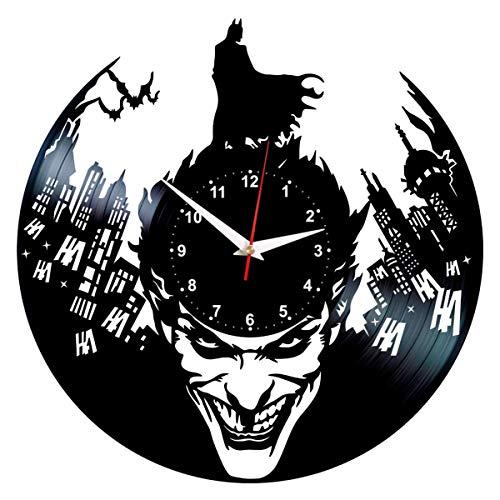 Joker Clock - Batman Vinyl Record Wall Decor - DC Comics Birthday Gifts for Men]()