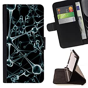 DEVIL CASE - FOR Samsung Galaxy S5 Mini, SM-G800 - Virus Cell Blood Stems - Style PU Leather Case Wallet Flip Stand Flap Closure Cover