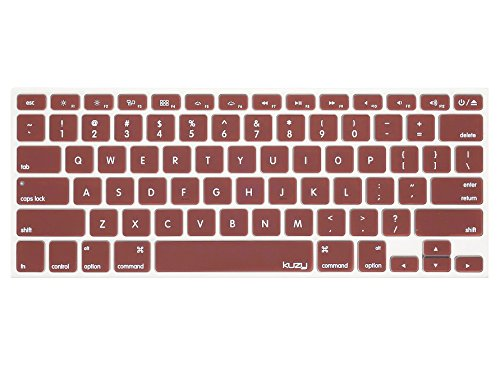 Kuzy - Chocolate Brown Keyboard Cover Silicone Skin for MacBook Pro 13 15 17 (with or w/out Retina Display) iMac and MacBook Air 13 - Brown