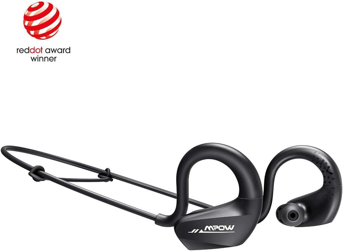 Mpow DS6 Auriculares 5.0 Deportivos Bass+, Inalámbricos audífonos Manos Libre, IPX6 Impermeable/9 Horas de Reproducción, Auricular Deporte para Correr con micrófono de cancelación de Ruido CVC6.0
