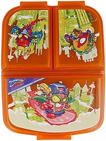 Super ZINGS| Sandwichera con 3 Compartimentos para niños - lonchera Infantil - Porta merienda - Fiambrera Decorada: Amazon.es: Hogar