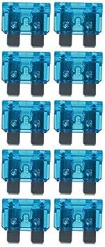 baytronic Standard Flachstecksicherung Kfz-Sicherung 10 St/ück 3 A violett
