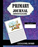 Primary Journal Composition Blank Book : 7.25 x 9.25 inch, 120 pages For School: Creative Draw Write Handwriting Journal, Unruled Top, and Ruled Bottom Half (Kid Story Board Diary) (Volume 1)