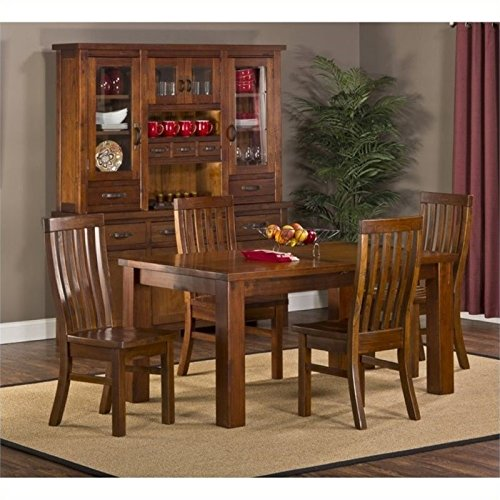 Bowery Hill 5 Piece Dining Set in Distressed Chestnut