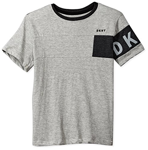 DKNY Boys Short Sleeve Crew Neck Slub Jersey T-Shirt