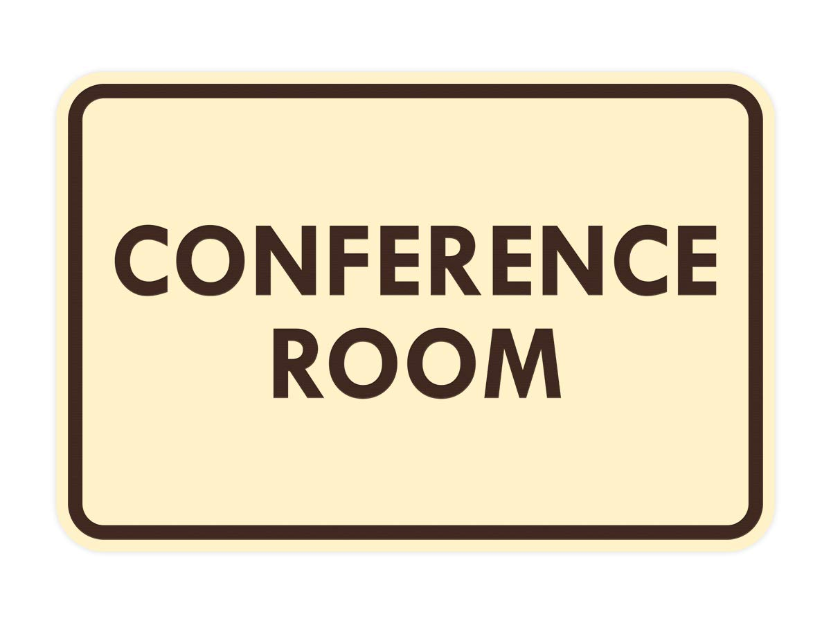 Medium Signs ByLITA Classic Framed Conference Room Sign Brushed Gold