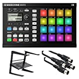 : Native Instruments Maschine Mikro Groove Production Studio, Black. W/ Laptop stand + 2 MIDI Cables.